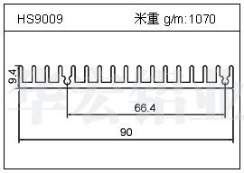 LED散热器HS9009