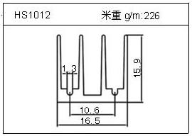 LED铝型材HS1012