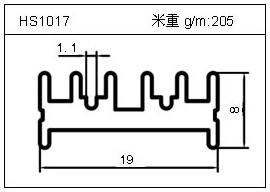高密齿铝型材HS1017