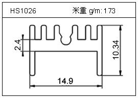 桥架铝型材HS1026