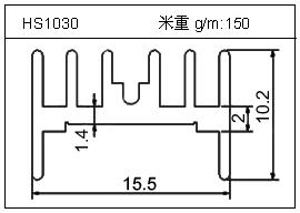 桥架铝型材HS1030