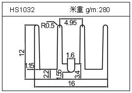 桥架铝型材HS1032