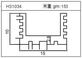 桥架铝型材HS1034