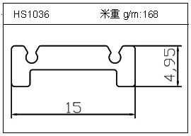 桥架铝型材HS1036