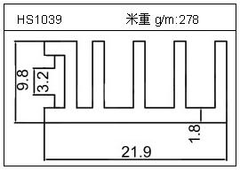 工业铝型材HS1039