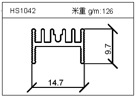 工业铝型材HS1042