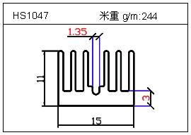 工业铝型材HS1047