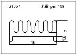 工业铝型材HS1057