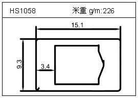 工业铝型材HS1058