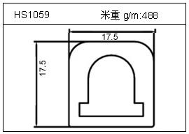 工业铝型材HS1059