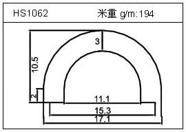 工业铝型材HS1062