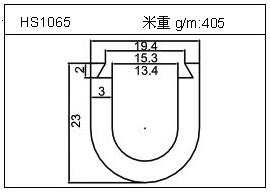 散热器铝型材HS1065
