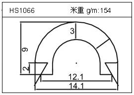 散热器铝型材HS1066