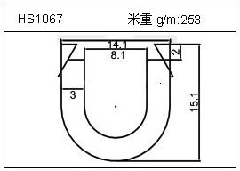 散热器铝型材HS1067