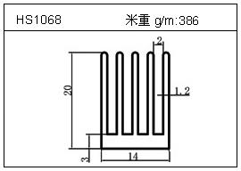散热器铝型材HS1068
