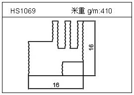 散热器铝型材HS1069