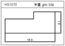 散热器铝型材HS1070