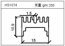 散热器铝型材HS1074