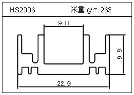 散热器铝型材HS2006