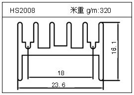 散热器铝型材HS2008