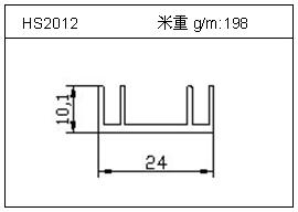 散热器铝型材HS2012