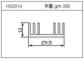 散热器铝型材HS2014