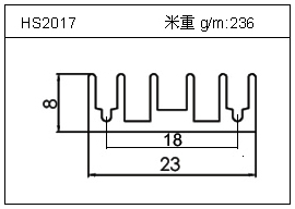 散热器铝型材HS2017