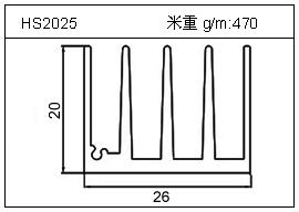 充电器铝型材HS2025