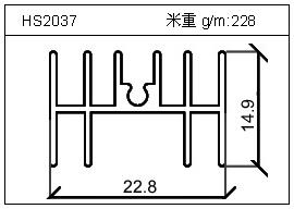电焊机铝型材HS2037