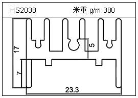 电焊机铝型材HS2038