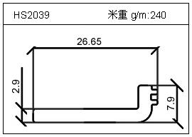 电焊机铝型材HS2039