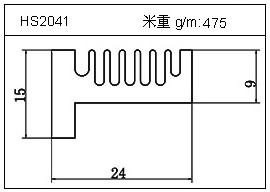电焊机铝型材HS2041