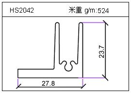 电焊机铝型材HS2042