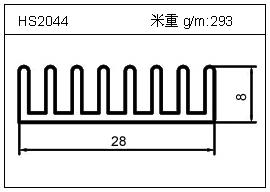电焊机铝型材HS2044