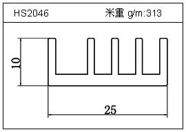 电焊机铝型材HS2046
