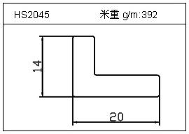 电焊机铝型材HS2045