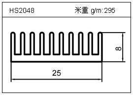 电焊机铝型材HS2048
