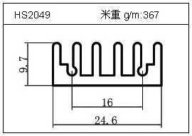 电焊机铝型材HS2049