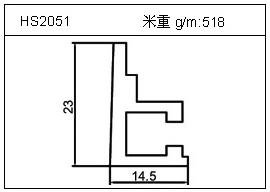 电焊机铝型材HS2051