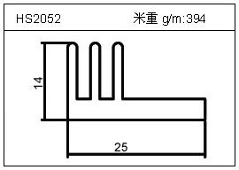电焊机铝型材HS2052