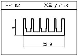 电焊机铝型材HS2054