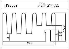 电焊机铝型材HS2059