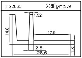 电焊机铝型材HS2063