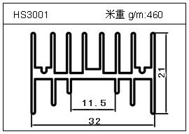 电焊机铝型材HS3001