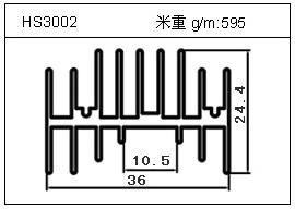 电焊机铝型材HS3002