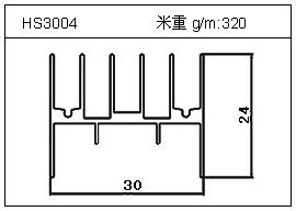 电焊机铝型材HS3004
