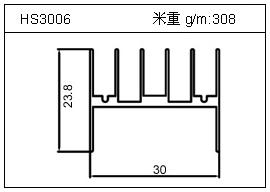 门窗铝型材HS3006