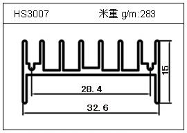 门窗铝型材HS3007