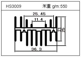 门窗铝型材HS3009