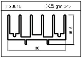 门窗铝型材HS3010